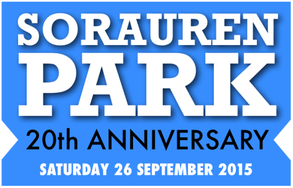 Logo for Sorauren Park 20th Anniversary, Sept. 26, 2015